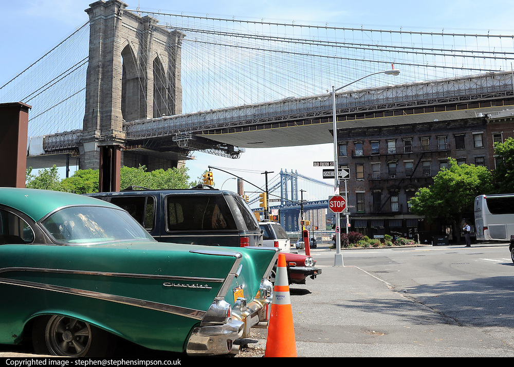 © licensed to London News Pictures. New York, USA  28/05/11.  Brooklyn Bridge. Photo credit should read Stephen Simpson/LNP