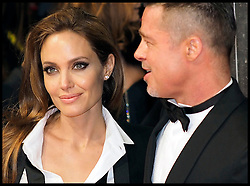 Angelina Jolie and Brad Pitt arrive at the BAFTA Film Awards. London, United Kingdom. Sunday, 16th February 2014. Picture by Max Nash / i-Images