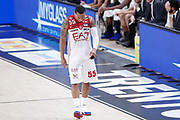 Jerrells Curtis delusione, DOLOMITI ENERGIA TRENTINO vs EA7 EMPORIO ARMANI OLIMPIA MILANO, gara 4 Finale Play off Lega Basket Serie A 2017/2018, PalaTrento Trento 11 giugno 2018 - FOTO: Bertani/Ciamillo