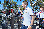 SO Russia arrived to Los Angeles Coliseum Stadium before opening ceremony of the Special Olympics World Games Los Angeles 2015 at the Los Angeles Coliseum Stadium on July 25, 2015 in Los Angeles, USA.<br /> USA, Los Angeles, July 25, 2015<br /> <br /> Picture also available in RAW (NEF) or TIFF format on special request.<br /> <br /> For editorial use only. Any commercial or promotional use requires permission.<br /> <br /> Adam Nurkiewicz declares that he has no rights to the image of people at the photographs of his authorship.<br /> <br /> Mandatory credit:<br /> Photo by &copy; Adam Nurkiewicz / Mediasport