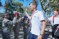 SO Russia arrived to Los Angeles Coliseum Stadium before opening ceremony of the Special Olympics World Games Los Angeles 2015 at the Los Angeles Coliseum Stadium on July 25, 2015 in Los Angeles, USA.<br /> USA, Los Angeles, July 25, 2015<br /> <br /> Picture also available in RAW (NEF) or TIFF format on special request.<br /> <br /> For editorial use only. Any commercial or promotional use requires permission.<br /> <br /> Adam Nurkiewicz declares that he has no rights to the image of people at the photographs of his authorship.<br /> <br /> Mandatory credit:<br /> Photo by © Adam Nurkiewicz / Mediasport