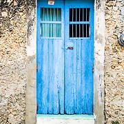 Blue door. Izamal. Yucatan, Mexico.
