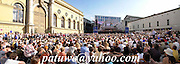 panorama, Open air concert in Munich, Bavaria, Germany