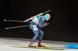 February 11, 2018 - Pyeongchang, Gangwon, South Korea - Maxim Braun of Kazakhstan  at Mens 10 kilometre sprint Biathlon at olympics at Alpensia biathlon stadium, Pyeongchang, South Korea on February 11, 2018. (Credit Image: © Ulrik Pedersen/NurPhoto via ZUMA Press)