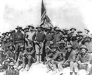 Theodore Roosevelt wiith the Rough Riders during the Spanish American War 1898