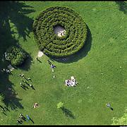 COLLEGNO (TO)  labirinto verde di siepi all'interno del Parco della Certosa (ex manicomio)