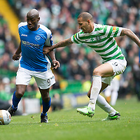 Celtic v St Johnstone.....11.05.13      SPL<br /> Gregory Tade and Kelvin Wilson<br /> Picture by Graeme Hart.<br /> Copyright Perthshire Picture Agency<br /> Tel: 01738 623350  Mobile: 07990 594431