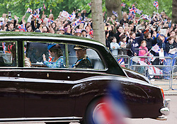 London, UK  29/04/2011. The Royal Wedding of HRH Prince William to Kate Middleton. HRH The Duke of York with his daughters princesses Beatrice and Eugenie being driven to Westminster Abbey. Photo credit should read Bettina Strenske/LNP. Please see special instructions. © under licence to London News Pictures