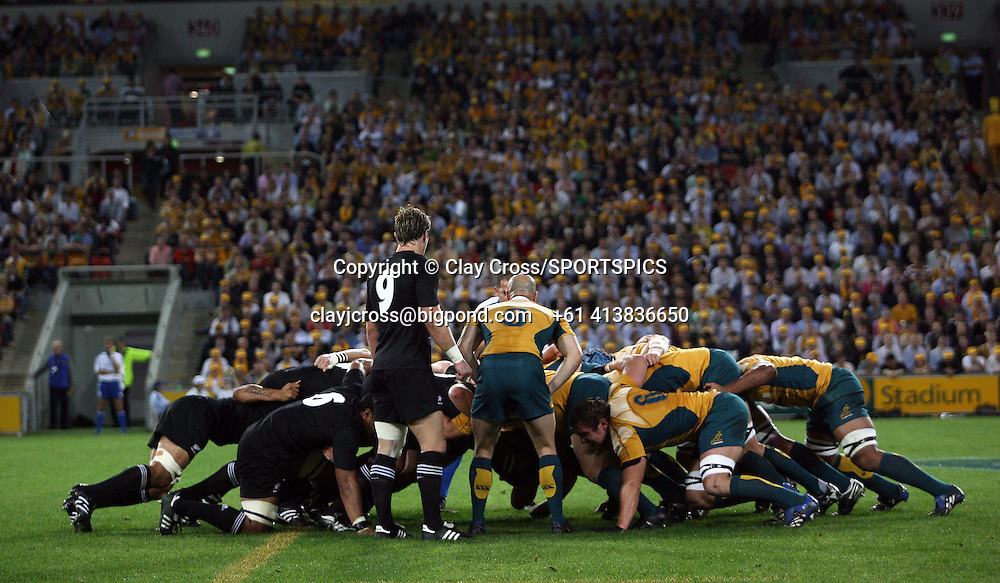 2008 Tri Nations & Bledisloe Cup Test Match, Australia vs New Zealand, Suncorp Stadium, Brisbane Australia played on Saturday 13 September. Photo: Clay Cross/PHOTOSPORT