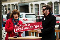 Sarah Boyack returns to the Scottish Parliament, Edinburgh, 30 April 2019