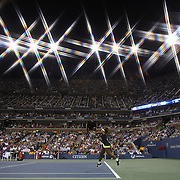 Serena Williams, USA, in action against Ana Ivanovic, Serbia in Arthur Ashe Stadium during the US Open Tennis Tournament, Flushing, New York. USA. 5th September 2012. Photo Tim Clayton