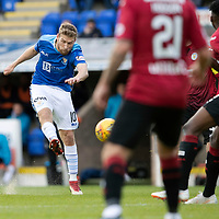 St Johnstone v St Mirren…27.10.18…   McDiarmid Park    SPFL<br />David Wotherspoon shoots over the bar<br />Picture by Graeme Hart. <br />Copyright Perthshire Picture Agency<br />Tel: 01738 623350  Mobile: 07990 594431