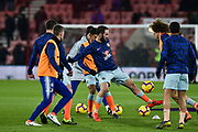 Chelsea Forward, Gonzalo Higuain (9) warms up during the Premier League match between Bournemouth and Chelsea at the Vitality Stadium, Bournemouth, England on 30 January 2019.