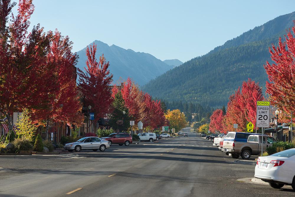 Joseph Oregon's Main Street in autumn.