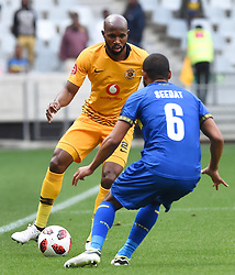 Cape Town-180915- Kaizer Chiefs Striker defender Ramahlwe Mphathlele challenged by Cape Town City defender Ebrahim Seedat in the ABSA Premiership clash at the cape Town Stadium.Chiefs are still looking for their first win of the season,so far they have maneged 3 draws and a loss..Photographs:Phando Jikelo/African News Agency/ANA