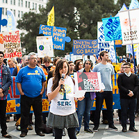 Oakland, CA Protest against Big Oil's Funding Climate Denial and against Fracking | Political Theatre | Frank Ozawa Plaza | Climate Stories | Conservation Photographer <br />