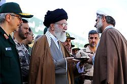 Iran's supreme leader, Ayatollah Ali Khamenei (C) attends a ceremony at the Emam Hossein university, in Tehran, Iran on May 10, 2017. Photo by ParsPix/ABACAPRESS.COM