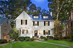 7207 Maple Ave. Chevy Chase, MD Architect builder Anthony Wilder Front home exterior