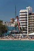 El Postiguet beach downtown, Alicante, Spain
