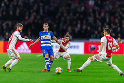 13-03-2019 NED: Ajax - PEC Zwolle, Amsterdam<br /> Ajax has booked an oppressive victory over PEC Zwolle without entertaining the public 2-1 / Lasse Schone #20 of Ajax, Vito van Crooij #7 of PEC Zwolle, Nicolas Tagliafico #31 of Ajax, Dusan Tadic #10 of Ajax