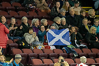 KELOWNA, BC - OCTOBER 25:  Fans show their support during Skate Canada International at Prospera Place on October 25, 2019 in Kelowna, Canada. (Photo by Marissa Baecker/Shoot the Breeze)