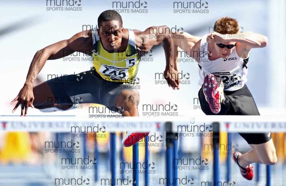 (Toronto, Ontario---27/06/09)   Karl Jennings competing in  men's 110m hurdle final at the 2009 Canadian National Track and field Championships. Photograph copyright Claus Andersen / Mundo Sport Images, 2009. www.mundosportimages.com / www.msievents.