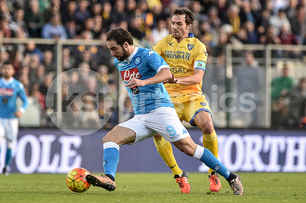 Gonzalo Higuain of Napoli during the Serie A TIM match between Frosinone and Napoli at Stadio Matusa, Frosinone, Italy on 10 January 2016. Photo by Giuseppe Maffia.
