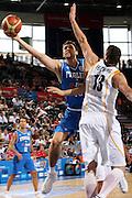 DESCRIZIONE : Madrid Spagna Spain Eurobasket Men 2007 Qualifying Round Germania Italia Germany Italy GIOCATORE : Andrea Bargnani<br /> SQUADRA : Nazioanle Italia Uomini Italy <br /> EVENTO : Eurobasket Men 2007 Campionati Europei Uomini 2007 <br /> GARA : Germania Italia Germany Italy <br /> DATA : 12/09/2007 <br /> CATEGORIA : Tiro <br /> SPORT : Pallacanestro <br /> AUTORE : Ciamillo&amp;Castoria/H.Bellenger Galleria : Eurobasket Men 2007 <br /> Fotonotizia : Madrid Spagna Spain Eurobasket Men 2007 Qualifying Round Germania Italia Germany Italy Predefinita :