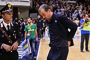 Simone Pianigiani<br /> Banco di Sardegna Dinamo Sassari - Olimpia EA7 Emportio Armani Milano<br /> LegaBasket LBA Poste Mobile 2017/2018<br /> Sassari, 29/10/2017<br /> Foto L.Canu / Ciamillo-Castoria
