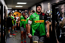 Harlequins enter the field prior to kick off - Mandatory by-line: Ryan Hiscott/JMP - 25/11/2019 - RUGBY - Sandy Park - Exeter, England - Exeter Braves v Harlequins - Premiership Rugby Shield