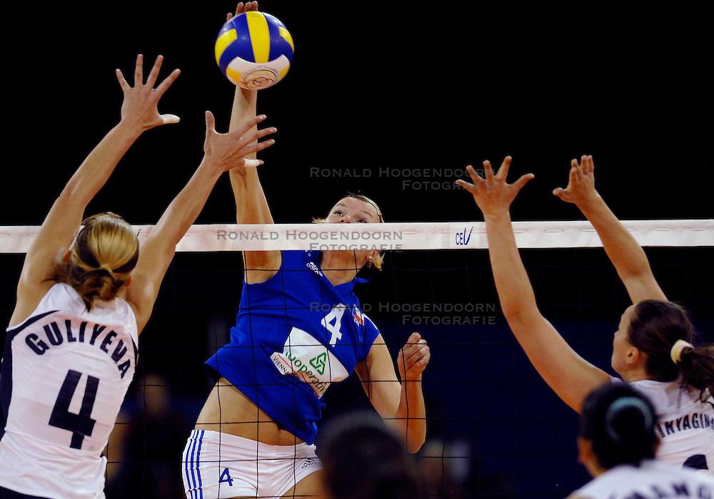 10-11-2007 VOLLEYBAL: PRE OKT: TSJECHIE - AZERBEIDZJAN: EINDHOVEN<br /> Tsjechie wint met 3-1 van Azerbeidzjan / Milada Spalova<br /> &copy;2007-WWW.FOTOHOOGENDOORN.NL