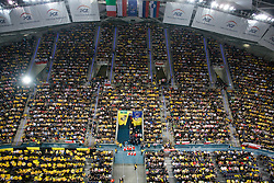 Fans of Belchatow at  match for 3rd place of CEV Indesit Champions League FINAL FOUR tournament between PGE Skra Belchatow, POL and ACH Volley Bled, SLO on May 2, 2010, at Arena Atlas, Lodz, Poland. Belchatow defeated ACH 3-1. (Photo by Vid Ponikvar / Sportida)