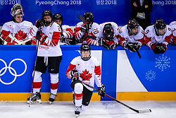 22-02-2018 KOR: Olympic Games day 13, PyeongChang<br /> Final Ice Hockey Canada - USA 2-3 / Teleurstelling team Canada Haley Irwin #21 of Canada, Jocelyne Larocque #3 of Canada