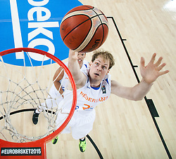 Robin Smeulders of Netherlands during basketball match between Netherlands and Croatia at Day 5 in Group C of FIBA Europe Eurobasket 2015, on September 9, 2015, in Arena Zagreb, Croatia. Photo by Vid Ponikvar / Sportida