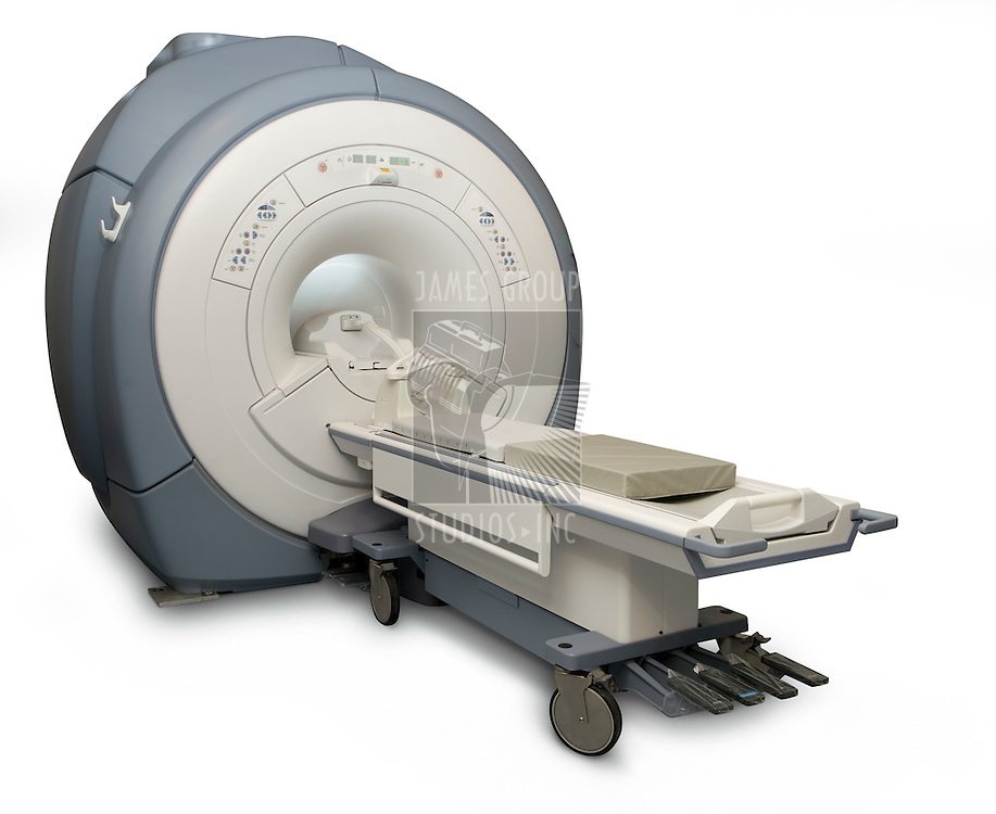 Magnetic Resonance Imaging machine isolated on white with a clipping path