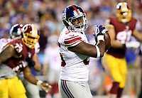 September 25, 2014: New York Giants tight end Daniel Fells (85) in action during a match between the Washington Redskins and the New York Giants at FedEx Field in Landover, Maryland. NFL American Football Herren USA SEP 25 Giants at Redskins PUBLICATIONxINxGERxSUIxAUTxHUNxRUSxSWExNORxONLY Icon140925099<br /> <br /> September 25 2014 New York Giants Tight End Daniel Fells 85 in Action during A Match between The Washington Redskins and The New York Giants AT FedEx Field in Landover Maryland NFL American Football men USA Sep 25 Giants AT Redskins PUBLICATIONxINxGERxSUIxAUTxHUNxRUSxSWExNORxONLY
