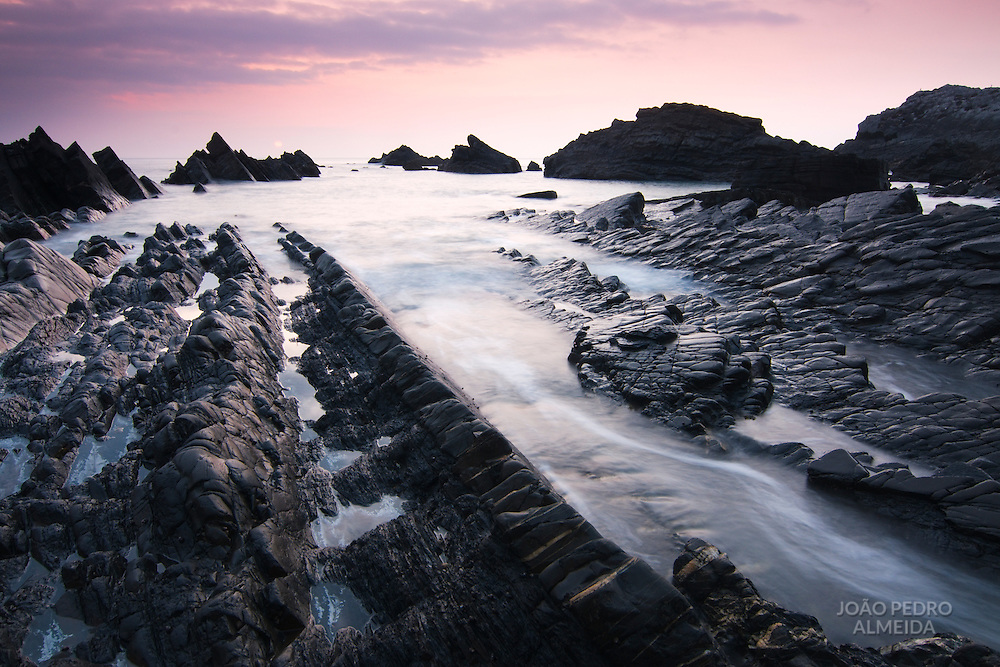 The rock formations by the sea at Hartland Quay