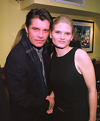 Actor OLIVER TOBIAS and his fiance MISS ARABELLA ZAMOYSKA, at a party in London on 11th November 1997.MDE 14