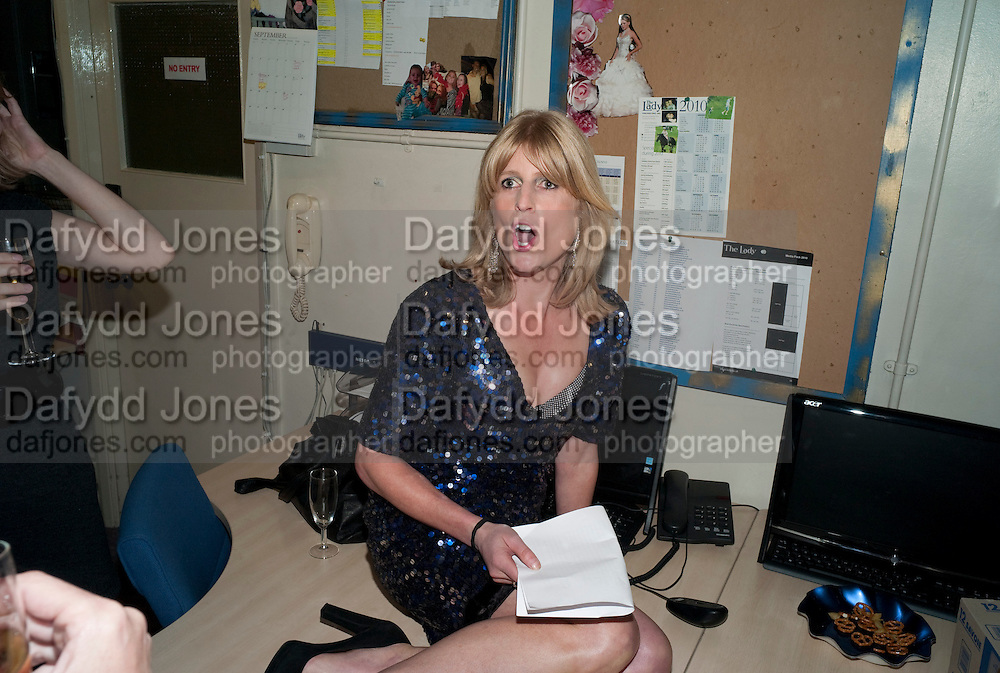 RACHEL JOHNSON, Rachel's Johnson's 'A Diary of the Lady'book launch at The Lady's offices. Covent Garden. London. 30 September 2010. -DO NOT ARCHIVE-© Copyright Photograph by Dafydd Jones. 248 Clapham Rd. London SW9 0PZ. Tel 0207 820 0771. www.dafjones.com.