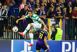 Jefferson of Sporting vs Agim Ibraimi of Maribor during football match between NK Maribor and Sporting Lisbon (POR) in Group G of Group Stage of UEFA Champions League 2014/15, on September 17, 2014 in Stadium Ljudski vrt, Maribor, Slovenia. Photo by Vid Ponikvar  / Sportida.com