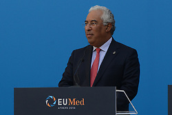 September 9, 2016 - Athens, attika, greece - Antonio Costa, Prime Minister of Portugal during the EU MED Mediterranean Economies Summit in Athens on September 9, 2016. (Credit Image: © Wassilios Aswestopoulos/NurPhoto via ZUMA Press)