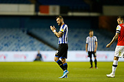 Steven Fletcher of Sheffield Wednesday applauds fans as he leaves the pitchduring the EFL Sky Bet Championship match between Sheffield Wednesday and Luton Town at Hillsborough, Sheffield, England on 20 August 2019.