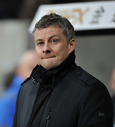 Cardiff City Manager, Ole Gunnar Solskjær - Photo mandatory by-line: Alex James/JMP - Tel: Mobile: 07966 386802 08/02/2014 - SPORT - FOOTBALL - Swansea - Liberty Stadium - Swansea City v Cardiff City - Barclays Premier League