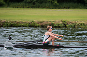 Henley. Berks, United Kingdom. <br /> <br /> Phoebe CAMPBELL. University of Exeter. JW1X. Competing at, 2017 Henley' Women's  the Regatta. Rowing on, Henley Reach. River Thames. <br /> <br /> Sunday  18/06/2017<br /> <br /> <br /> [Mandatory Credit Peter SPURRIER/Intersport Images]