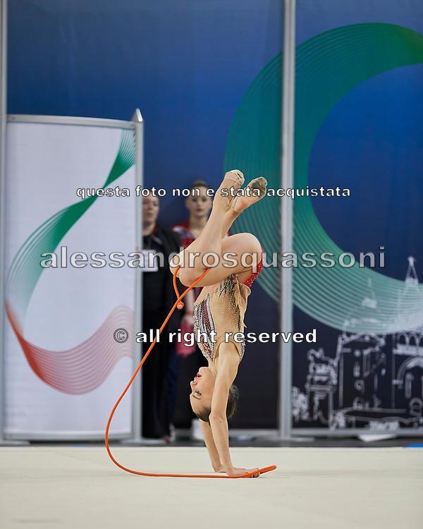 Talisa Torretti from Fabriano team during the Italian Rhythmic Gymnastics Championship in Padova, 25 November 2017.