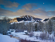 Bald Mountain and the Wood River, Sun Valley Idaho