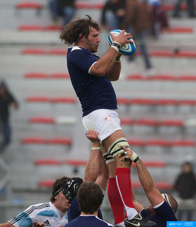 Lionel Nallet, France, in action during the Argentina V France test match at Estadio Jose Amalfitani, Buenos Aires,  Argentina. 26th June 2010. Photo Tim Clayton...