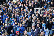 Fans celebrate as Reading's Danny Williams (23) scores and celebrates, making the score 2-0 to Reading, during the EFL Sky Bet Championship match between Reading and Burton Albion at the Madejski Stadium, Reading, England on 19 November 2016. Photo by Richard Holmes.