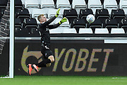 Aynsley Pears (42) of Middlesbrough makes a save during the EFL Sky Bet Championship match between Swansea City and Middlesbrough at the Liberty Stadium, Swansea, Wales on 14 December 2019.