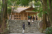 The building where prayers are said at Ise Shrine. The actual main shrine is just behind this one, but photography is not allowed.